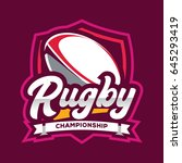 rugby championship logo ... | Shutterstock .eps vector #645293419