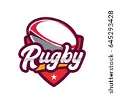 rugby championship logo ... | Shutterstock .eps vector #645293428