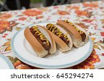 delicious summer barbecue with... | Shutterstock . vector #645294274