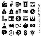 cash icons set. set of 25 cash...   Shutterstock .eps vector #645297643