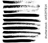 ink vector brush strokes set.... | Shutterstock .eps vector #645297814