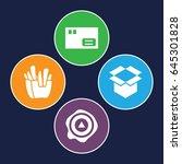 carton icons set. set of 4... | Shutterstock .eps vector #645301828