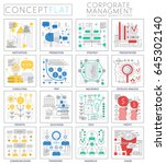 infographics mini concept...   Shutterstock . vector #645302140