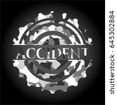 accident on grey camo pattern | Shutterstock .eps vector #645302884