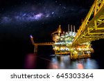 industrial offshore oil and gas ... | Shutterstock . vector #645303364