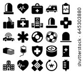 emergency icons set. set of 25... | Shutterstock .eps vector #645303880