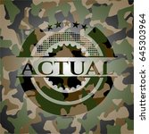actual on camo pattern | Shutterstock .eps vector #645303964
