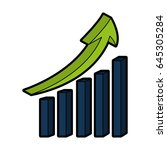statistics bars with arrow | Shutterstock .eps vector #645305284
