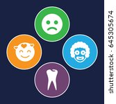 smile icons set. set of 4 smile ... | Shutterstock .eps vector #645305674
