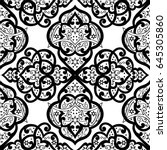 seamless abstract ornate pattern | Shutterstock .eps vector #645305860