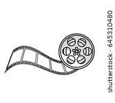 tape reel film icon | Shutterstock .eps vector #645310480
