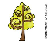 tree plant drawing icon | Shutterstock .eps vector #645310660