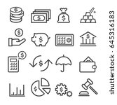 finance thin line icons | Shutterstock .eps vector #645316183