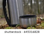 hot tea in thermos for a walk... | Shutterstock . vector #645316828
