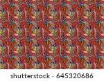 summer design. raster flower... | Shutterstock . vector #645320686