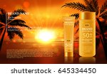 sun protection cream ads.... | Shutterstock .eps vector #645334450