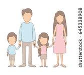 light color caricature faceless ... | Shutterstock .eps vector #645338908