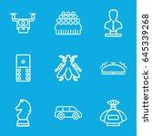 gray icons set. set of 9 gray... | Shutterstock .eps vector #645339268
