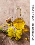 rapeseed oil  canola  and rape... | Shutterstock . vector #645341488