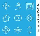 next icons set. set of 9 next... | Shutterstock .eps vector #645342154