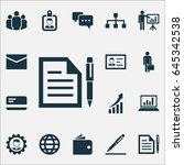 job icons set. collection of... | Shutterstock .eps vector #645342538