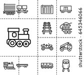 train icon. set of 13 outline... | Shutterstock .eps vector #645346066