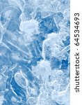 Abstract Blue Ice Background O...