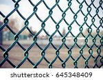 chain link fence | Shutterstock . vector #645348409