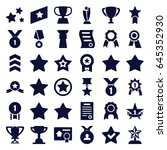 best icons set. set of 36 best... | Shutterstock .eps vector #645352930