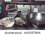dirty kitchen    Shutterstock . vector #645357844