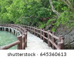 long bridge is establish near... | Shutterstock . vector #645360613