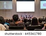 rear view of audience over the... | Shutterstock . vector #645361780