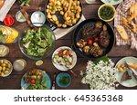 grilled steak  grilled... | Shutterstock . vector #645365368