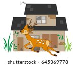 the deer which appears in the... | Shutterstock .eps vector #645369778