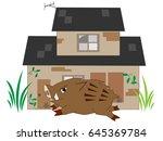the wild boar which appears in... | Shutterstock .eps vector #645369784