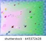 arrow template elements | Shutterstock .eps vector #645372628