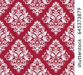 floral pattern. wallpaper... | Shutterstock . vector #645373879