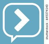 arrow icon stock vector... | Shutterstock .eps vector #645374140