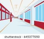 interior of school hall in flat ...   Shutterstock .eps vector #645377050