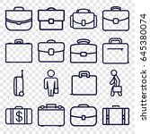 brief icons set. set of 16... | Shutterstock .eps vector #645380074