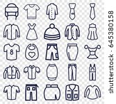 apparel icons set. set of 25... | Shutterstock .eps vector #645380158