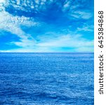 sea and beach background with... | Shutterstock . vector #645384868
