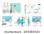 plastic surgery clinic | Shutterstock .eps vector #645385420