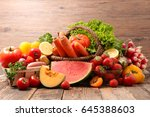 fruit and vegetable | Shutterstock . vector #645388603