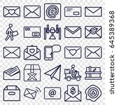 mail icons set. set of 25 mail... | Shutterstock .eps vector #645389368