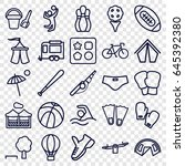 recreation icons set. set of 25 ... | Shutterstock .eps vector #645392380