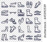 footwear icons set. set of 25... | Shutterstock .eps vector #645392539