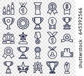 trophy icons set. set of 25... | Shutterstock .eps vector #645392566