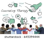 mental health care sketch... | Shutterstock . vector #645394444