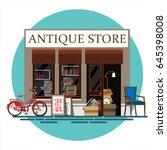 antique store. antique shop.... | Shutterstock .eps vector #645398008